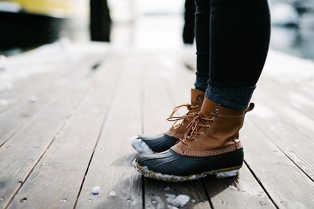 Bannière bottes d'hiver