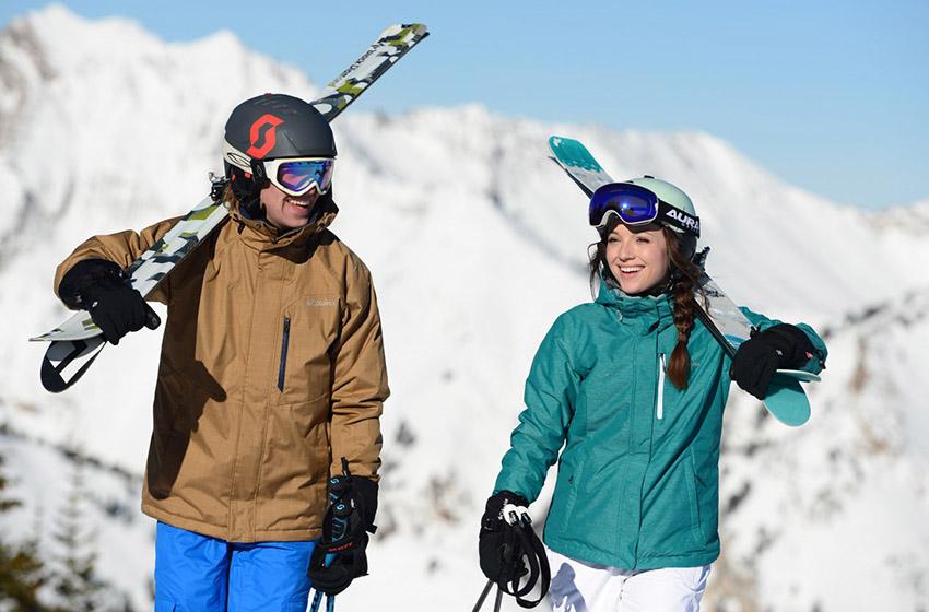 Image couple ski vêtement d'hiver Columbia
