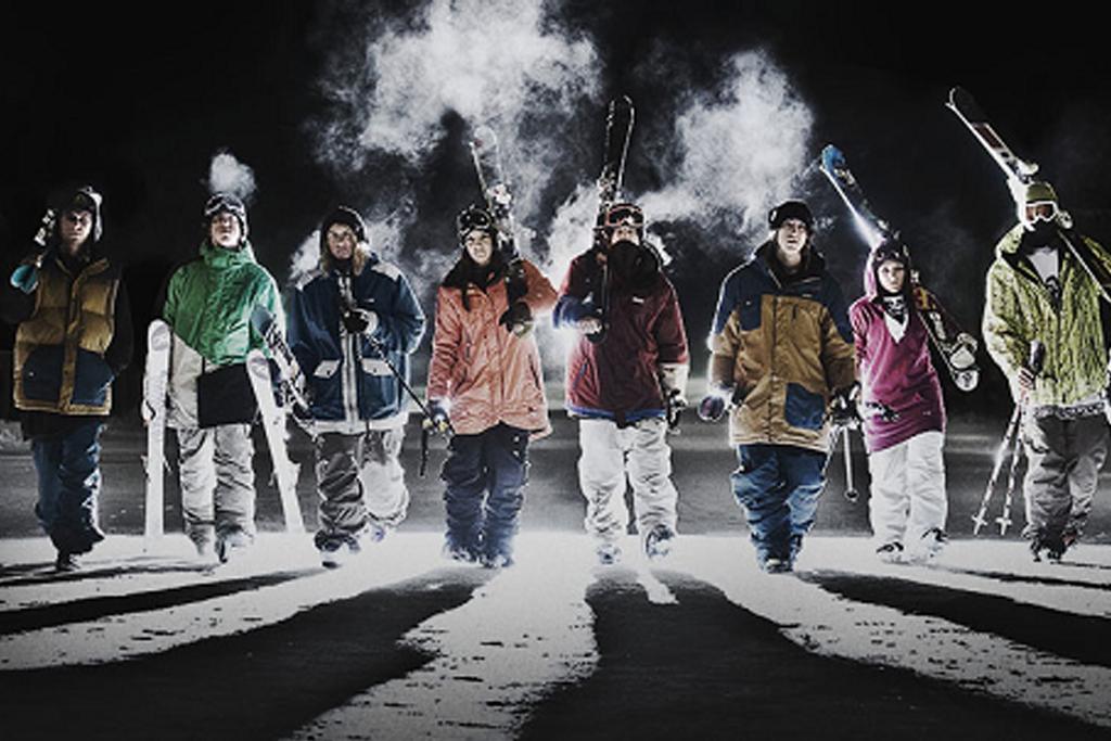 Bannière hiver ski