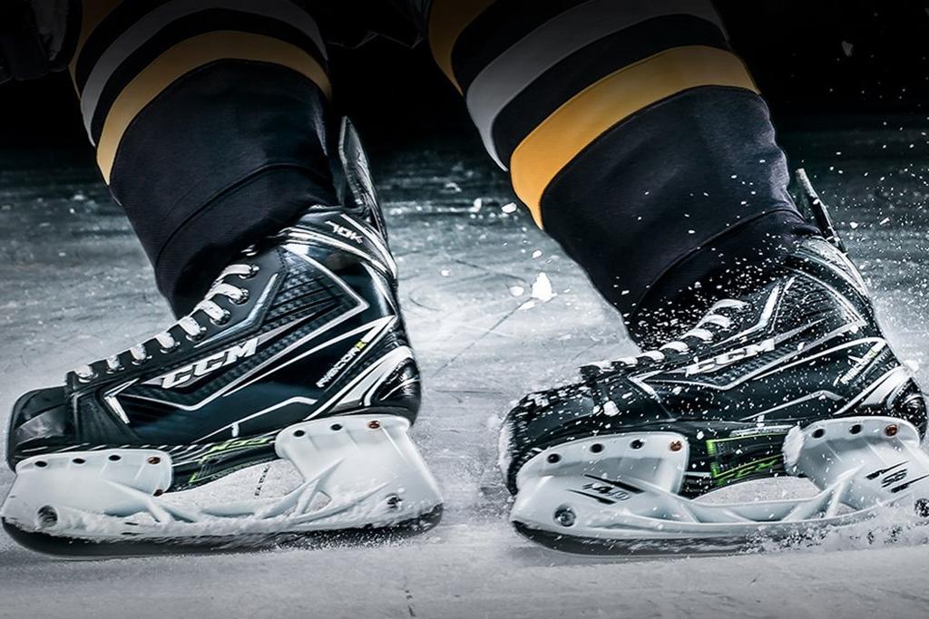 Bannière patins - Sport d'hiver hockey