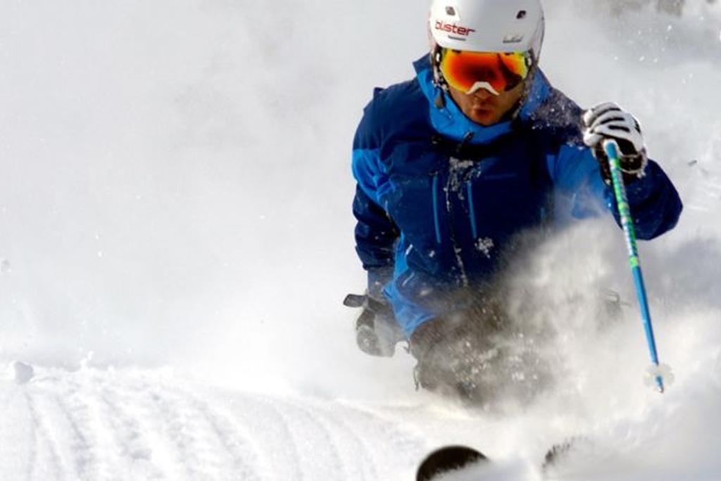 Bannière ski alpin - sport d'hiver